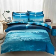 Sky/Universe Bed Sheet Set Single Bed (UK) Duvet Cover Pillowcase Blue