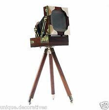 Vintage Retro Folding Decorative Camera Wooden Desktop Tool Home & Office Decor