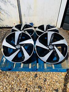 "18"" Milton GTD Style Alloy Wheels Only Black/Pol for Volkswagen Golf Mk5 Mk6 Mk7"
