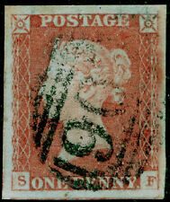 Sg8, 1d red-brown Plate 98, Fine Used. Cat £35. 4 Margins. Sf