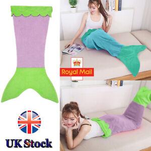 Mermaid Tail Fleece and Sparkly Sofa Beach Blanket Kids & Adult UK