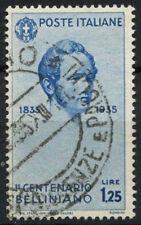 ITALIA 1935 SG # 465, 1L25 VINCENZO BELLINI USATO CAT £ 13 #D 6006