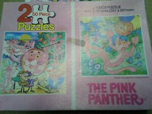 The pink panther two puzzles 1984 complete 50 pieces each