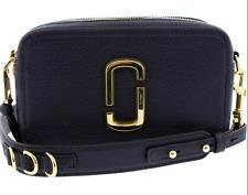 BNWT Marc Jacobs Softshot 21 Camera Bag Leather Navy Crossbody Bag