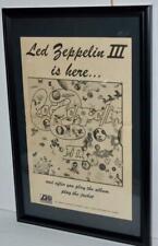 Led Zeppelin 1970 Led Zeppelin Iii Is Here Framed Promotional Poster / Ad