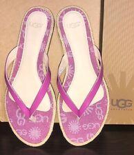 UGG Australia Allaria Denim Womens Flip Flop Sandals NEW Raspberry Sorbet US 7.5