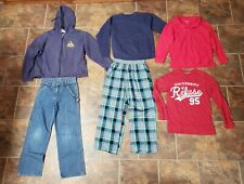 Mixed Lot of 6 Boy's Winter Clothes Jeans, Tops, Sweatshirts Size 8/10