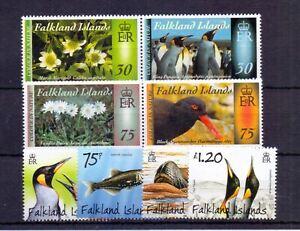FALKLAND IS. 2014 COLOUR IN NATURE SET ( 4 ) PENGUINS, PREDATORS SET ( 4 ) MNH