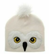 New Harry Potter Hedwig Bobble Hat Warm Owl Beanie Official Bioworld UK White