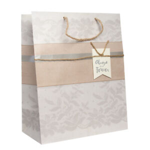 "Hallmark 13"" Large Gift Bag For Women & Men On Anniversaries, Romantic Occasions"