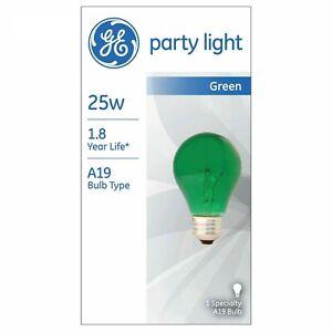 Green Incandescent Party Light Bulb 25-Watt Green A19 (1-Pack) GE