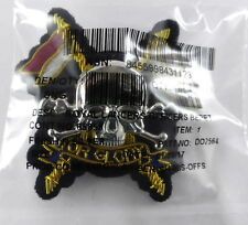 Royal Lancers Officers Cloth/Metal/Bullion Wire Beret Badge