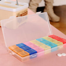Premium Pillenbox mit 21 separaten Fächer 7 Tage Tablette Medikamentendispenser