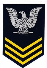 Navy E-6 First Class Petty Officer in Gold Decal