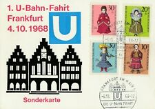 1. U-Bahn-Fahrt Frankfurt 4.10.1968 Sonderkarte Die U-Bahn fährt