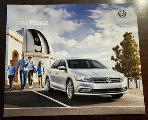 2018 VW Volkswagen Passat 14-page Original Car Sales Brochure Catalog - V6 GT