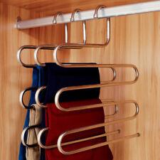 Closet Organizer Trouser Pants Ties Scarf Shawl Rack Coat Hanger Space Saving