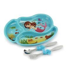 Urban Trend Kids Funwares Me Time Mermaid Dinner Plate & Utensil Meal Set