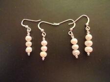 Perlen-Ohrschmuck im Hänger-Stil mit echten Zucht Hakenverschluss