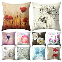 JW_ ALS_ Flower Dandelion Lotus Throw Pillow Case Cushion Cover Sofa Bed Cafe