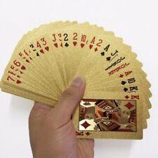 Luxury Playing Cards Game Plastic Diamond Foil Poker Set Durable Waterproof