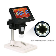 "1000X 4.3"" HD LCD Monitor Electronic Digital Video Microscope LED Magnifier N0N9"