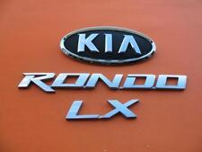 07 08 09 10 KIA RONDO LX REAR GATE TRUNK LID CHROME EMBLEM LOGO BADGE SIGN SET 4