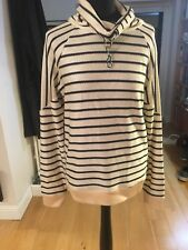 Paul Smith Navy and Cream Roll Neck Sweater In A Silk Style Knit Size Medium