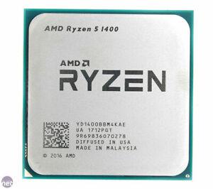AMD Ryzen 5 1400 4 Core 8 Thread 3.2 GHz L3-8MB Socket AM4 R5 1400 CPU Processor