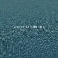 New Herringbone Plain Chenille Hardwearing Quality Navy Blue Upholstery Fabric