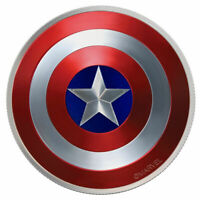 2019 CAPTAIN AMERICA SHIELD PROOF - 10 GRAM SILVER COIN PROOF - BACKORDER