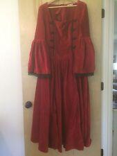 Museum Replicas Limited Long Red Velvet Renaissance Gown M
