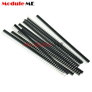 10Pcs Strip Tin PCB Female IC Breakable 40pin Single Row Round Header Socket