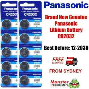 CR2032 3V 10pc LITHIUM BUTTON BATTERY BRAND NEW GENUINE EXPIRES: 12/2030