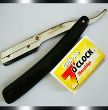 Shaving Razor Stainless Steel Barber Cut Throat with Blades Buy 1 Get 1 Free