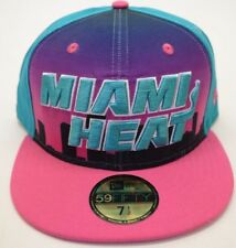 NEW!! Men's New Era Miami Heat 59Fifty Multicolor City 7 1/2 Fitted Cap