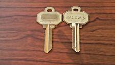 2 Original Baldwin Key Blanks- 5 Pin - Various Designs
