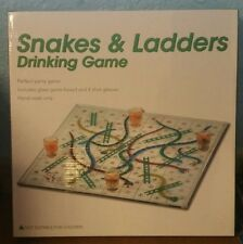 Snakes & Ladders Drinking Game Brand New Glass Board and Shot Glasses Ideal Gift
