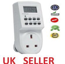 7 DAY DIGITAL LCD ELECTRONIC PLUG-IN PROGRAMABLE 12/24 HOUR TIMER SWITCH NEW