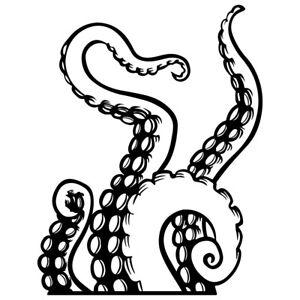 "7.7"" TENTACLES v2 Vinyl Decal Sticker Car Laptop Ocean Octopus Water Animal"