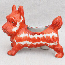 Vintage 1930s Japanese Red Figural Terrier Scottie Dog Planter Vase Pin Cushion
