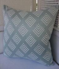 Rustic Hamptons Sea Blue & White Textured Cushion Cover 45cmn