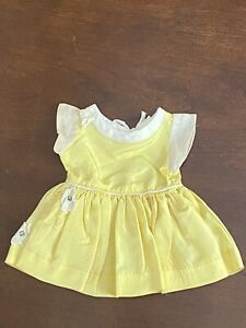 "16"" Terri Lee Yellow Taffeta dress- Tagged Rare Vintage Flower Accent"