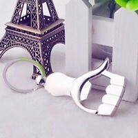 CW_ KQ_ KE_ CW_ KQ_ Top Design New Silver Color Thumb Up Hand Keychain Key Ring