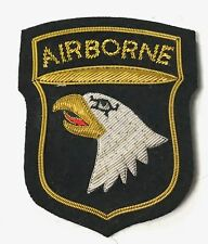 WWII 101ST AIRBORNE PARATROOPER CLASS A SLEEVE INSIGNIA PATCH- GOLD BULLION
