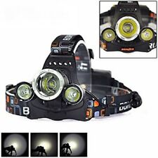 Lampe Frontale Rechargeable CREE XM L T6 Ultra-Puissante 3000 Lumens 4 Modes