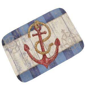 Vintage Anchor Pattern Doormat Home Decorative Door Mat Bathroom  Absorbent Mat