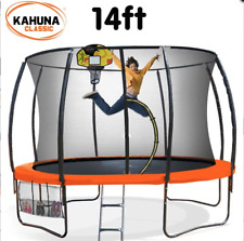 Kahuna 14 ft Trampoline with Basketball Set