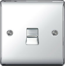 BG Nexus Metal Polished Chrome 1 Gang Slave Telephone Socket Npcbts1 Mirror