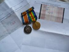 BWM & Victory Medal 41927 Pte R S Watson R Scots Killed in Action 6 April 1918